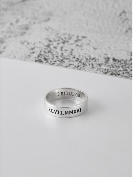 Roman Numeral Men's Ring
