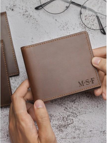 Children Artwork Wallet for Dad - Genuine Leather