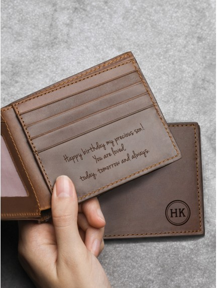 Personalized Wallet For Men - Genuine Leather