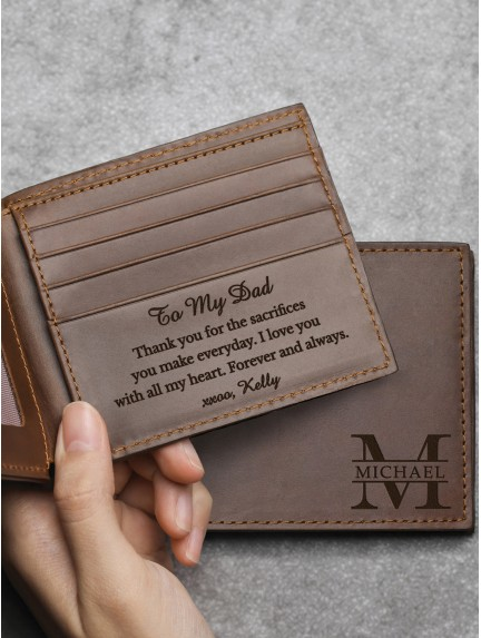 Dad Personalized Wallet - Genuine Leather