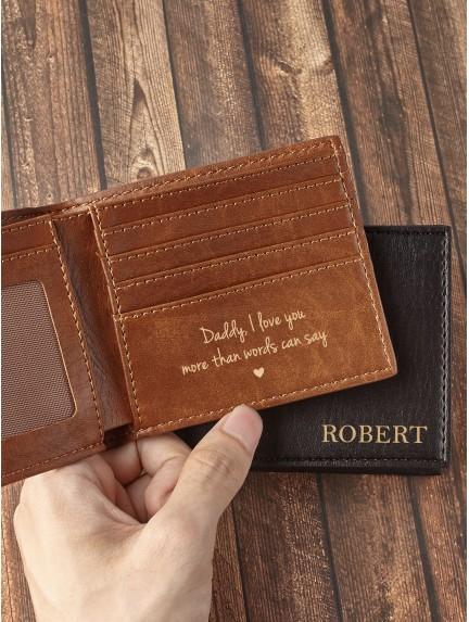Vegan Leather Wallet For Dad
