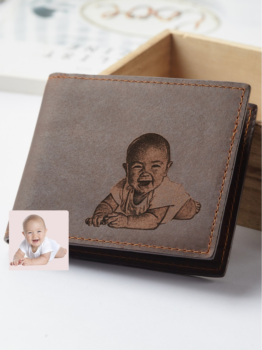 Baby Photo Engraved Wallet