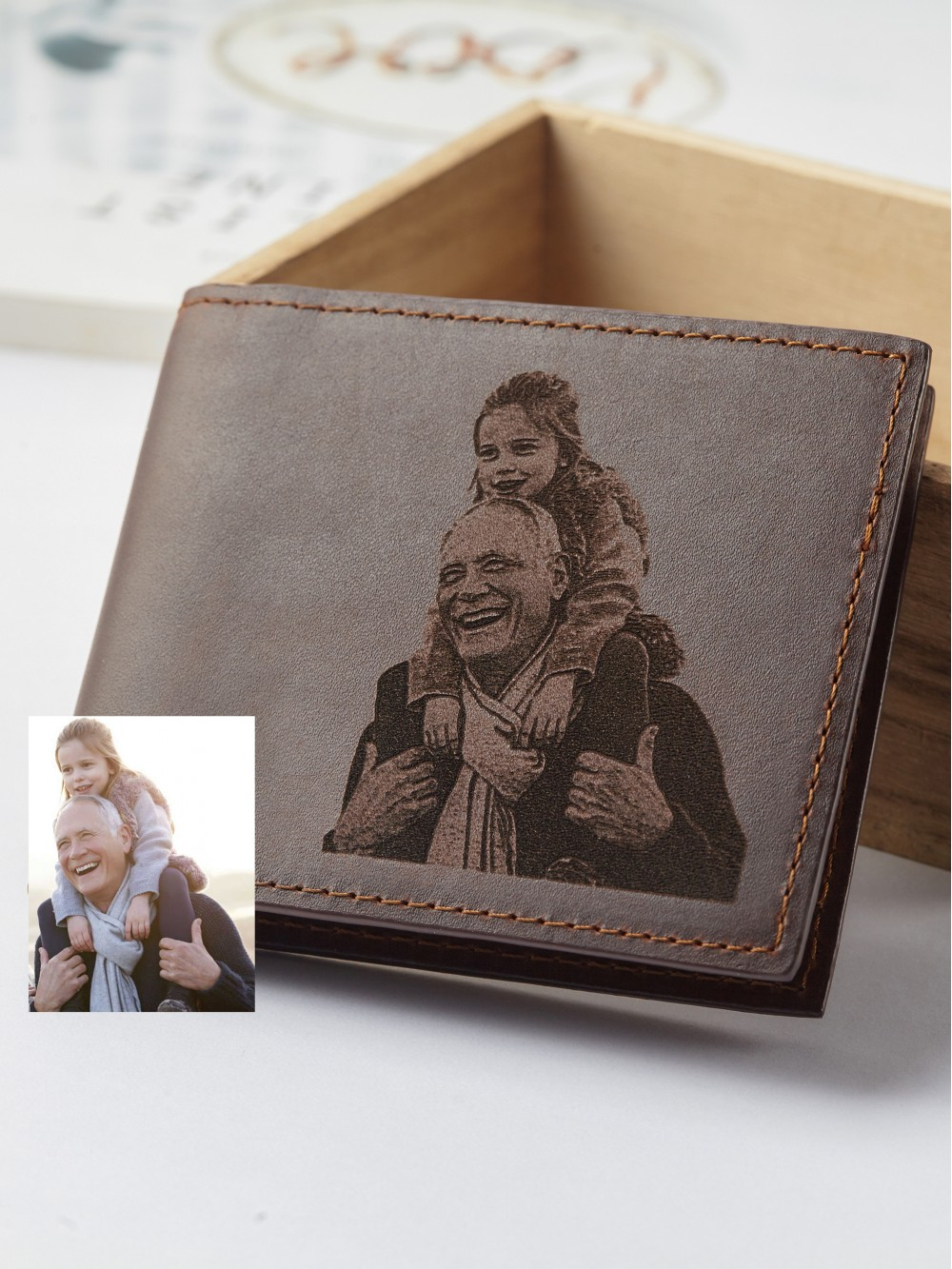 Personalized Picture Wallet For Grandpa