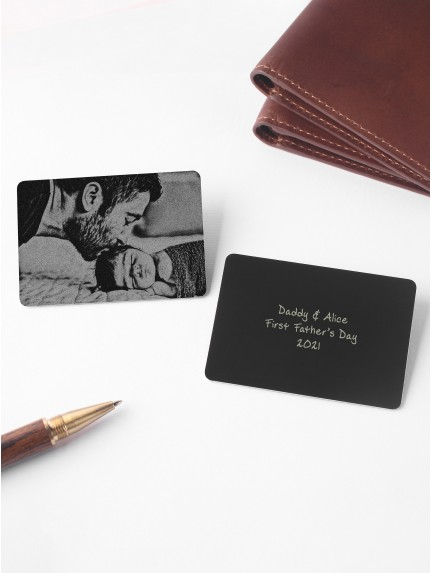 Photo Wallet Insert For New Dad - Aluminium