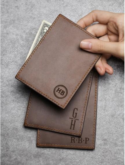 Kid Artwork Card Holder - Genuine Leather