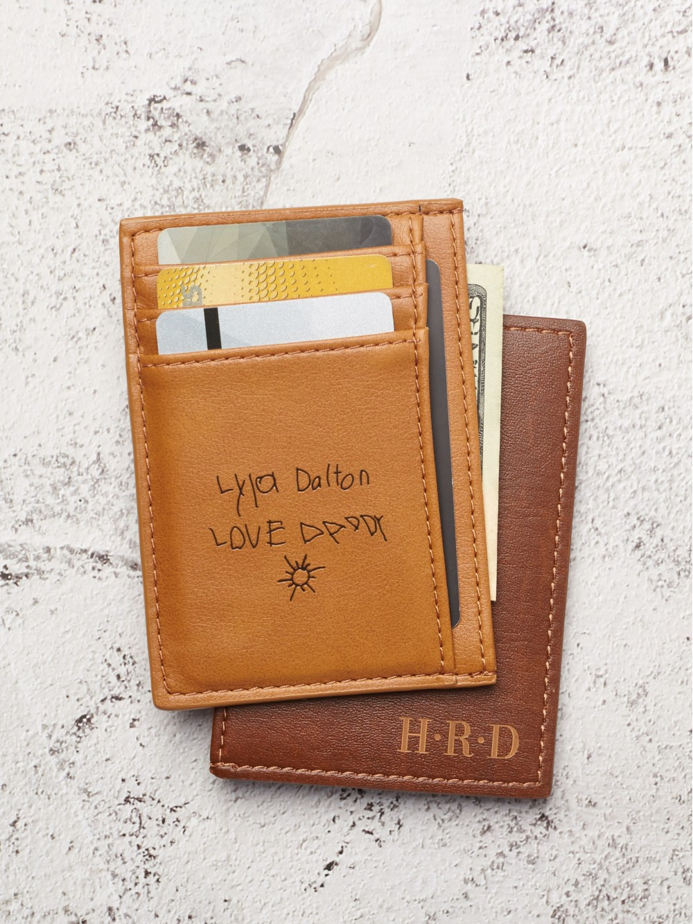 Personalized Card Holder With Handwriting