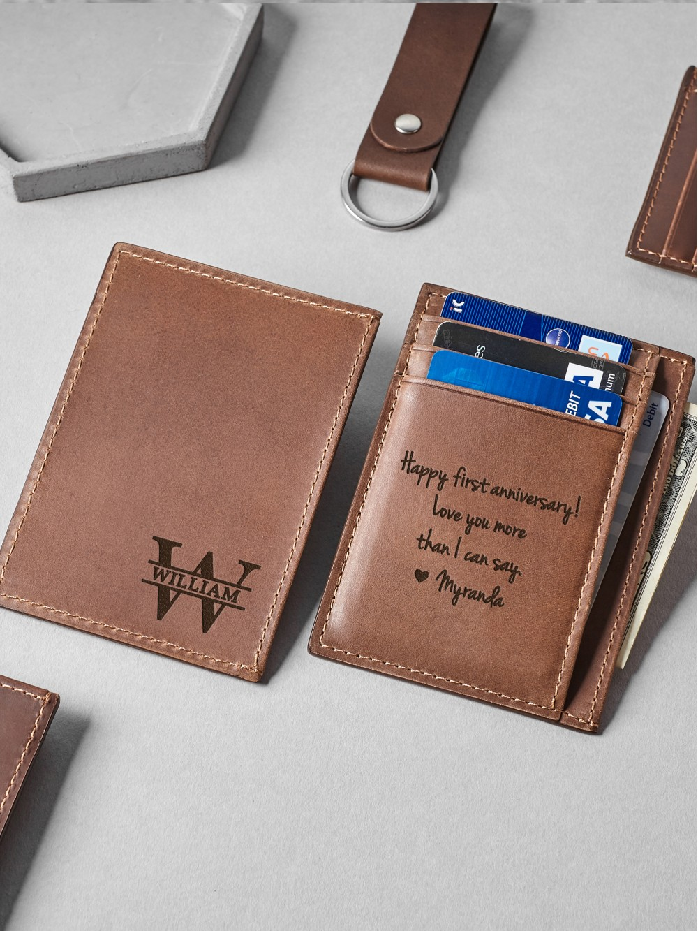 Personalized Card Holder - Genuine Leather