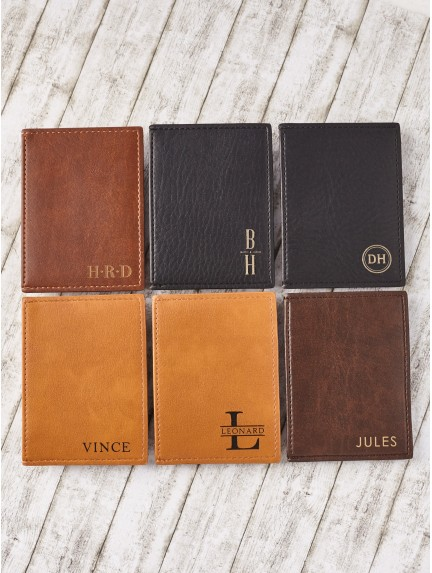 Personalized Card Holder - Vegan Leather
