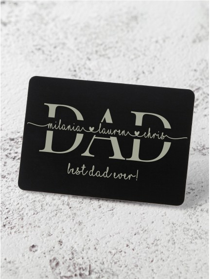 Personalized Wallet Insert For Dad - Aluminium