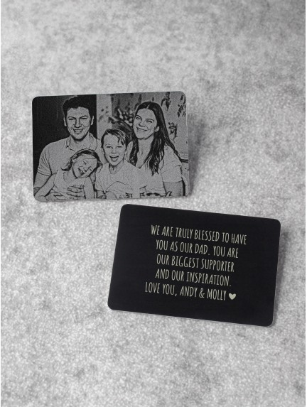 Photo Wallet Card For Dad - Aluminium