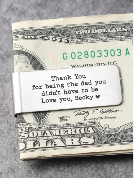 Customized Stainless Steel Money Clip For Step Dad