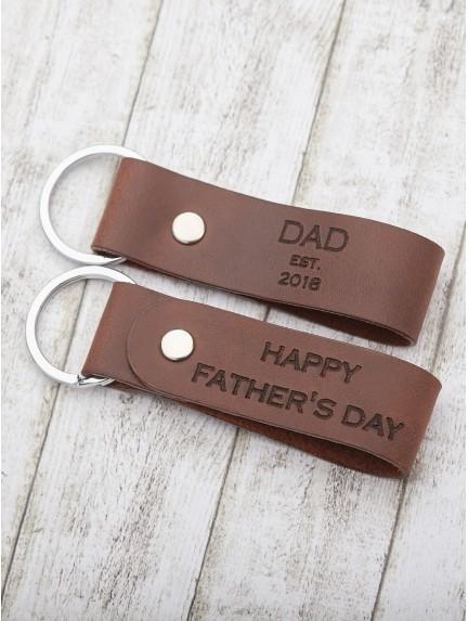 Personalized Dad Keychain - Dad est