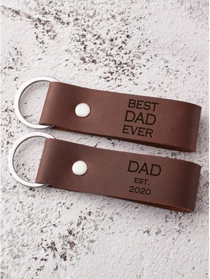Dad Keychain - Best Dad Ever