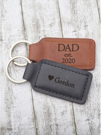 Personalized Dad Gift Keychain - Dad est.